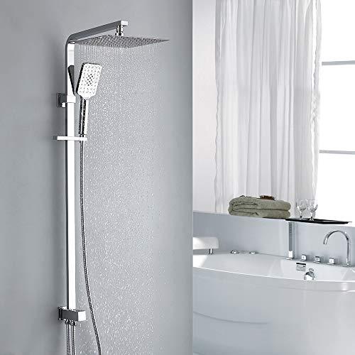 Homelody Duschset ohne Armatur Duschsäule Regendusche Duschset mit Überkopfbrause und Handbrause Duschsäule Duschsystem mit Umsteller
