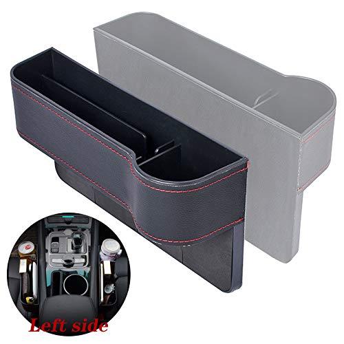Gxhong Scatola Portaoggetti per Seggiolino Auto, Car Seat Gap Storage Organizer Tasche a Fessura della Sedile Car Seat Gap Filler Pocket Vano Organizer per Sedile Auto- Sinistra