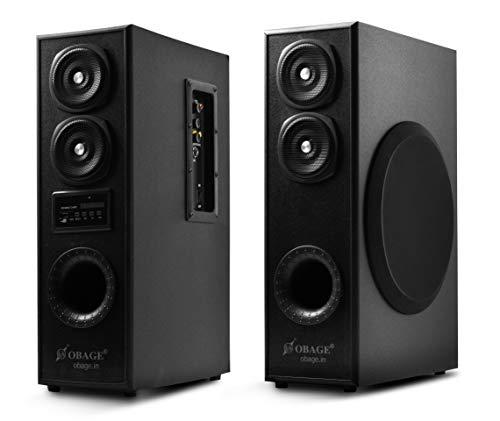 OBAGE DT-2425 70 Watt 2.0 Channel Wireless Bluetooth Tower Speaker (Black)