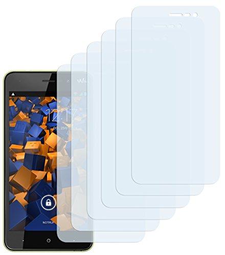 mumbi Schutzfolie kompatibel mit Wiko Lenny 4 Folie klar, Bildschirmschutzfolie (6X)