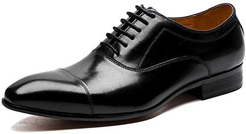 [ASTON M.JAZZ] ビジネスシューズ 本革 メンズ 内羽根 紳士靴 G-611 ブラック/ワインレッド/ブラウン 23.5cm-27.5cm (25.0cm, ブラック)