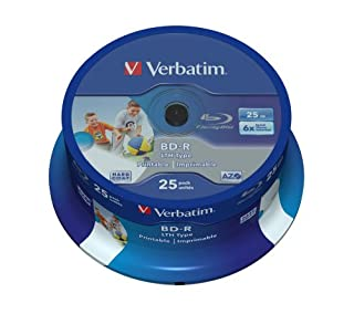 Verbatim BD-R 25GB 6X - Discos de BLU-Ray vírgenes (6X Velocidad de Lectura/Escritura BD-R) (B005N2ILGU) | Amazon price tracker / tracking, Amazon price history charts, Amazon price watches, Amazon price drop alerts