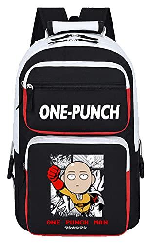 WANHONGYUE One Punch Man Saitama Anime Sac à Dos Cartable Laptop Backpack Étudiant Sac d'école de Loisirs pour Fille Garçon 1011/12
