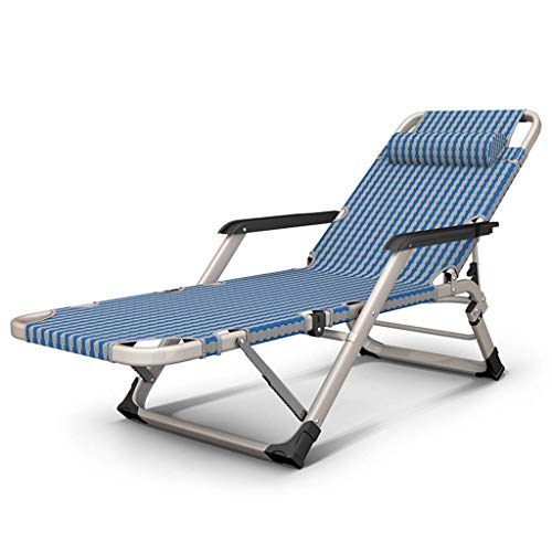 QQXX Zero gravity chair Folding recliner, Texoline Deck chair recliner recliner, adjustable recliner, suitable for beach, courtyard, garden with pillows