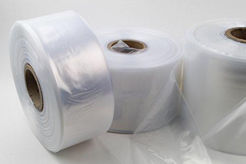 LDPE Schlauchfolie auf Rolle 500m Lauflänge, 50mm breit, 50my stark, transparent und scannerlesbar, lebensmittelechte Beutelfolie