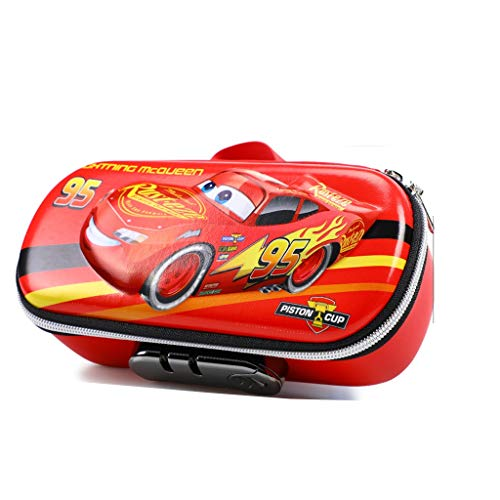 Pencil Case Cute Pencil Case Car 3 Compartments Tank Pen Pouch Holder Waterproof Organizer Stationery Box Student Red Supercar Boy Girls Pencil Bag (Color : Red 3)