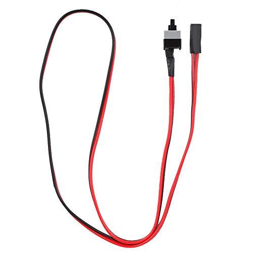 Dpofirs Cable de Interruptor de Puente para Chasis ATX, Cable de Interruptor de Alimentación de Tipo Contacto para Carcasa de Computadoras, Cable del Interruptor de Reinicio de Reset, Rojo