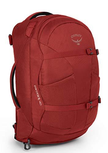 Osprey Packs Farpoint 40 Travel Backpack, Jasper Red, Medium/Large