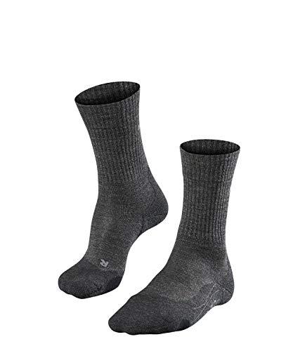 FALKE Damen, Wandersocken TK2 Wool Merinowollmischung, 1 er Pack, Grau (Smog 3150), Größe: 39-40