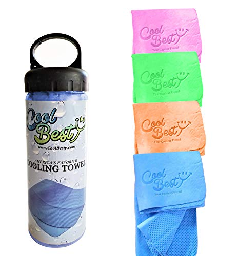 Cool Besty Cooling Towel-Workout/Tennis/Golf/Biking-Best for Any Sport Activities&Athletes Cold Towel-Chilly Pad Instant Cooling Snap Towel-Perfect for Fitness&Gym (Blue)