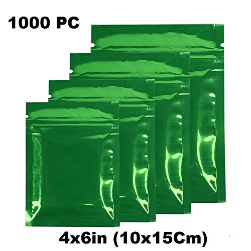 Great Deal! Durable and Wonderful 1000PC - 4x6in (10x15Cm) Aluminium Mylar Stand Up Ziplock Bag with...