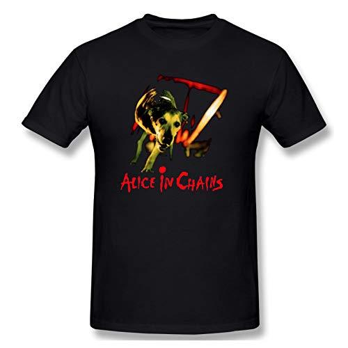 Alice In Chains Dog Men Short Sleeve T-Shirt Music Summer Tops Black XXL