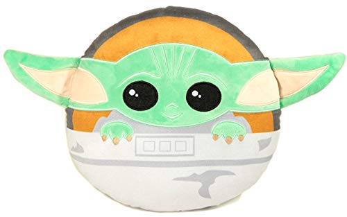 Jay Franco Star Wars The Mandalorian Baby Yoda Nogginz Decorative Pillow - Super Soft - Measures 12 Inches (Official Star Wars Product)