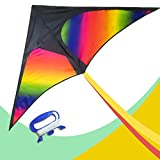 delta kite with tails