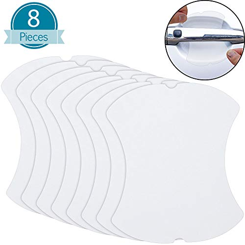 BBTO Car Door Handle Scratch Protector Transparent Door Handle Paint Scratch Protection Protective Film (8 Pieces)