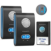 Synlett Wireless Door Bell Chime Kit with 2 Receivers & Transmitter