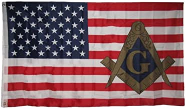 3x5 USA American Mason Masonic Lodge Polyester Flag 3x5 Banner Grommets BEST Garden Outdor Decor polyester material FLAG PREMIUM Vivid Color and UV Fade Resistant