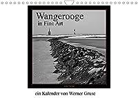 Wangerooge in Fine Art (Wandkalender 2022 DIN A4 quer): Wangerooge in Schwarzweiss (Fine Art) (Monatskalender, 14 Seiten )