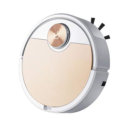Robot Aspirador, 3000 Mah De Gran Capacidad, Limpia El Piso Duro A La Alfombra, App Máquina De Limpieza Automática con Control Remoto,Oro
