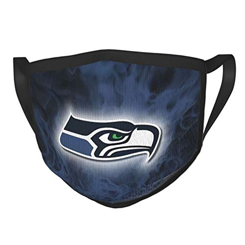 Northwest Seattle Seahawks Adult Dust Black Border Face Cover Washable Reusable Replaceable Outdoor Riding Decoration Style Sports Running/Cycling/Travel/Working/Office/School