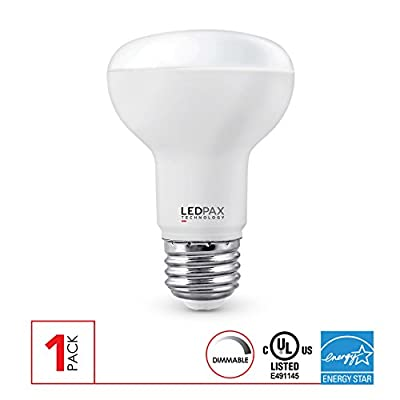 LEDPAX BR20 Dimmable LED Light Bulb, 7W (50W equivalent), 500 Lumens, CRI 90, UL Listed, Energy Star Certified