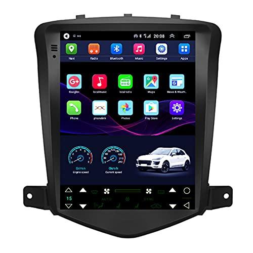 Radio automática, Android 10.1 Car Stereo 9.7 '' Pantalla táctil para Chevrolet Cruze 2008-2013, Reproductor MP5 Radio FM GPS Wifi, Mapa integrado sin conexión,4g+wifi 2g+32g