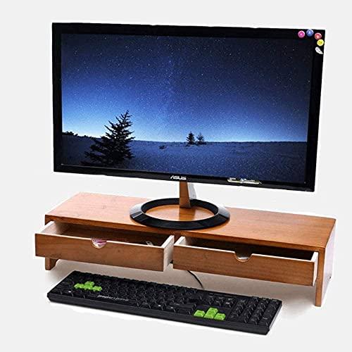 Tongmu Soporte para TV Soporte para monitor de computadora portátil, Estante de almacenamiento de control remoto con teclado de escritorio multifuncional, Adecuado para sala de estar (Largo 57.5cm 'An