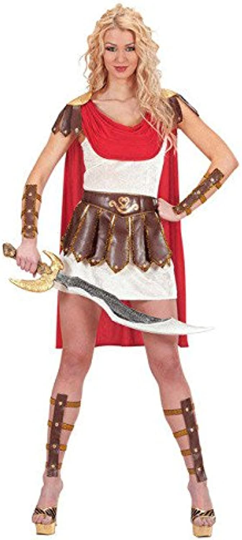 KULTFAKTOR GmbH Gladiatorin Damenkostüm römische Kriegerin Weiss-braun-rot S (36 38) B00K1EEQB4 Kunde zuerst  | New Products