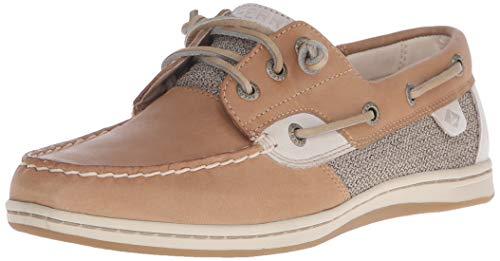 Sperry Womens Songfish Boat Shoe, Linen Oat, 10