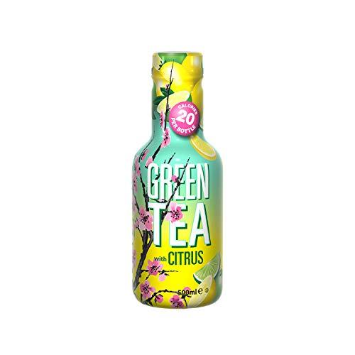 Arizona The Vert Citron Light Green Tea With Citrus Bouteille 500 Ml