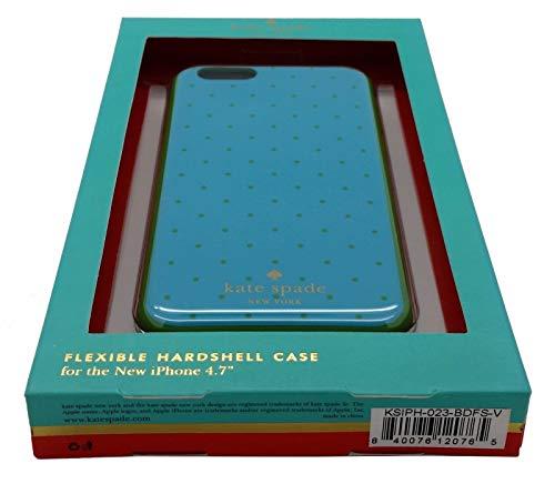 Kate Spade New York Carcasa rígida flexible protectora para iPhone 6/6S (4.7) (azul/verde)