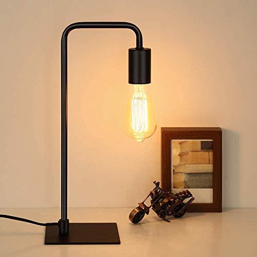 HAITRAL Industrielle Schreibtischlampe,Vintage Tischlampe Nachttischlampe für Schlafzimmer, Büro, Schlafsaal