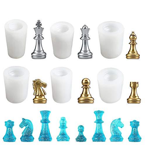 Molde de resina de ajedrez internacional para hacer arcilla polimérica, manualidades, manualidades de resina epoxi, hacer chocolate, cubitos de hielo, dulces, decoración de tartas fondant