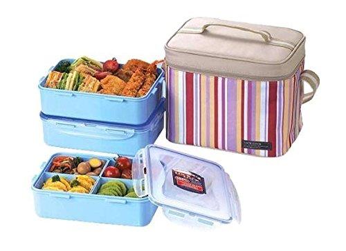 Lock & Lock Picnic Lunch Box Bento Set - HPL824RP, Pink (Large)