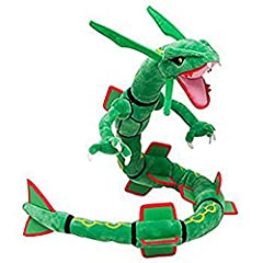 "Character : Rayquaza Approx size: 6""L X 2""W X 31""H Made with high quality cotton/polyester blend Soft and cuddly Recommended Age:2+ years"