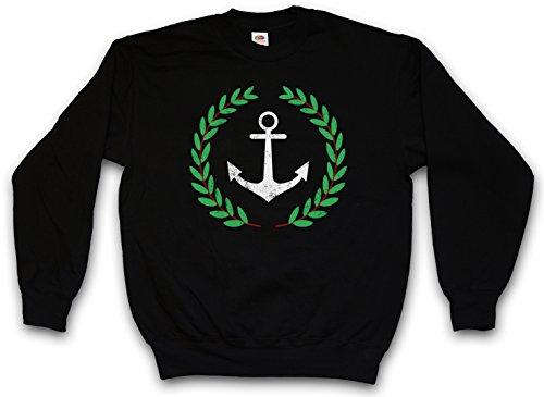 Urban Backwoods Anchor and Wreath Sweatshirt Pullover Schwarz Größe XL