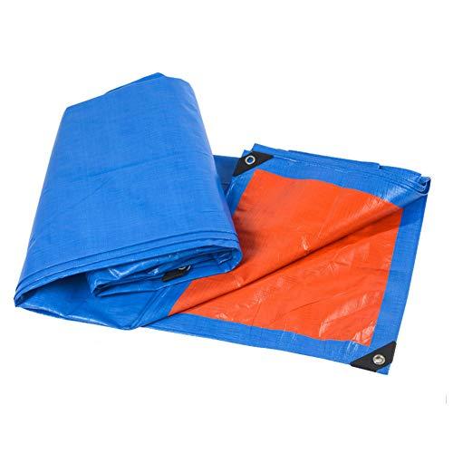 MENG Waterdicht dekzeil dik, slijtvast, zonbestendig en stofdicht doek ideaal voor tenten buiten, boot, camping, campers of zwembadafdekkingen, dakbedekkingen, 4 x 8 m
