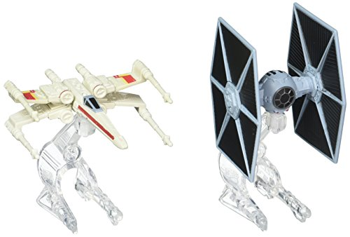 Hot Wheels – Star Wars – CGW91 – TIE Fighter vs X-Wing Fighter – 2 Véhicules Miniature Die Cast