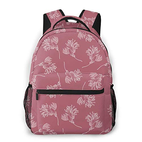 LNLN Rucksack Rucksack Floral Delicate Branches Print Lightweight Backpacks Casual School Bags Daypacks for Kis Adult