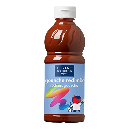 Lefranc Bourgeois Redimix 188015 Tempera Liquida, 500 ml, Marrone (Terra Siena Bruciata)