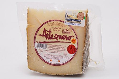 Queso Oveja Curado 'DO Manchego' (Cuña, 250 g) - Artequeso