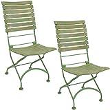 Sunnydaze Cafe Couleur European Chestnut Wooden Folding Bistro Chair - Portable, Compact Side Chair...