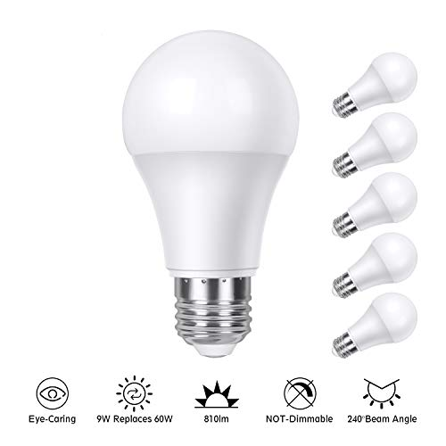 E27 LED Glühbirne 9W 220V, TASMOR LED Lampe E27 Warmweiß 2700K 810lm, Leuchtmittel CRI>80, Ersetzt 60 Watt, Nicht Dimmbar, Super Hell, Energieeinsparung, 15000 Stunden Lebensdauer, 6er-Pack