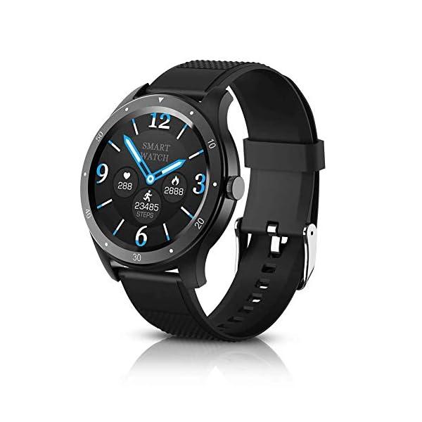 BYTTRON Reloj Inteligente, Rastreador de Ejercicios con Pantalla táctil HD Redondo de Seguimiento del Ritmo cardíaco… 1