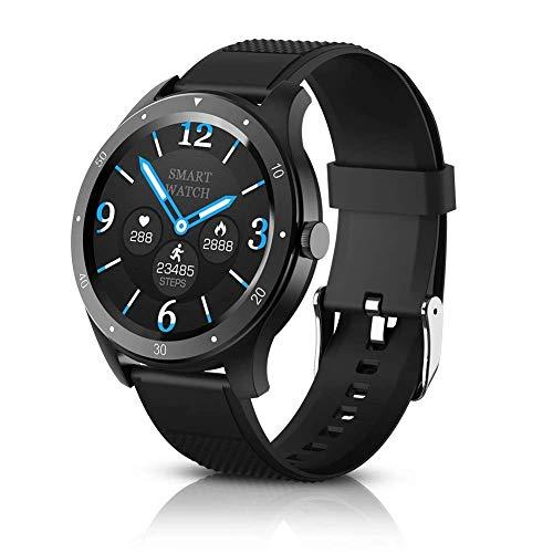 BYTTRON Smartwatches, 1,3 '' Full Round HD-Farb-Touchscreen-Fitness-Tracker mit Herzfrequenz-Tracking, Herzfrequenz mit Schlafmonitor Schrittzähler Activity Tracker SMS Erinnern Sie Smart Watch