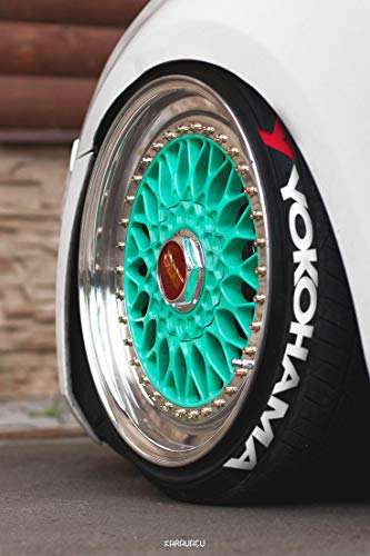PS Reifenbeschriftung permanente Sticker 4x YOKOHAMA WEISS Qualitäts Reifenaufkleber Set Reifensticker