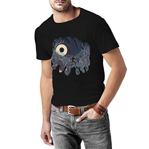 Fanta Universe Sir Daniel Fortesque - Camiseta Hombre - 100% Algodón (XL, Negro)