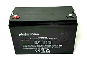 WindyNation 12V 100 Amp-Hour Deep Cycle VRLA Battery