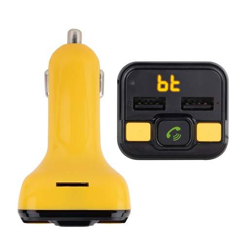NGS Spark BT Curry FM-zender, compatibel met Bluetooth-technologie voor auto/vrachtwagen, 12-24 V, USB/MicroSD/MP3-speler, kleur: geel.