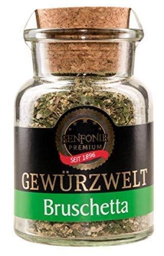 Altenburger Original Senfonie Premium Bruschetta, 60g im Korkenglas, mediterrane Gewürzmischung ohne Salz für den Antipasti-Klassiker